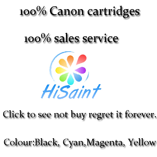 [Hisaint] 5 Refill Refillable Ink Cartridges to replace Canon PIXMA MX725 MG5550 MG6350 [Hot Country United Kingdom Brazil]<br>
