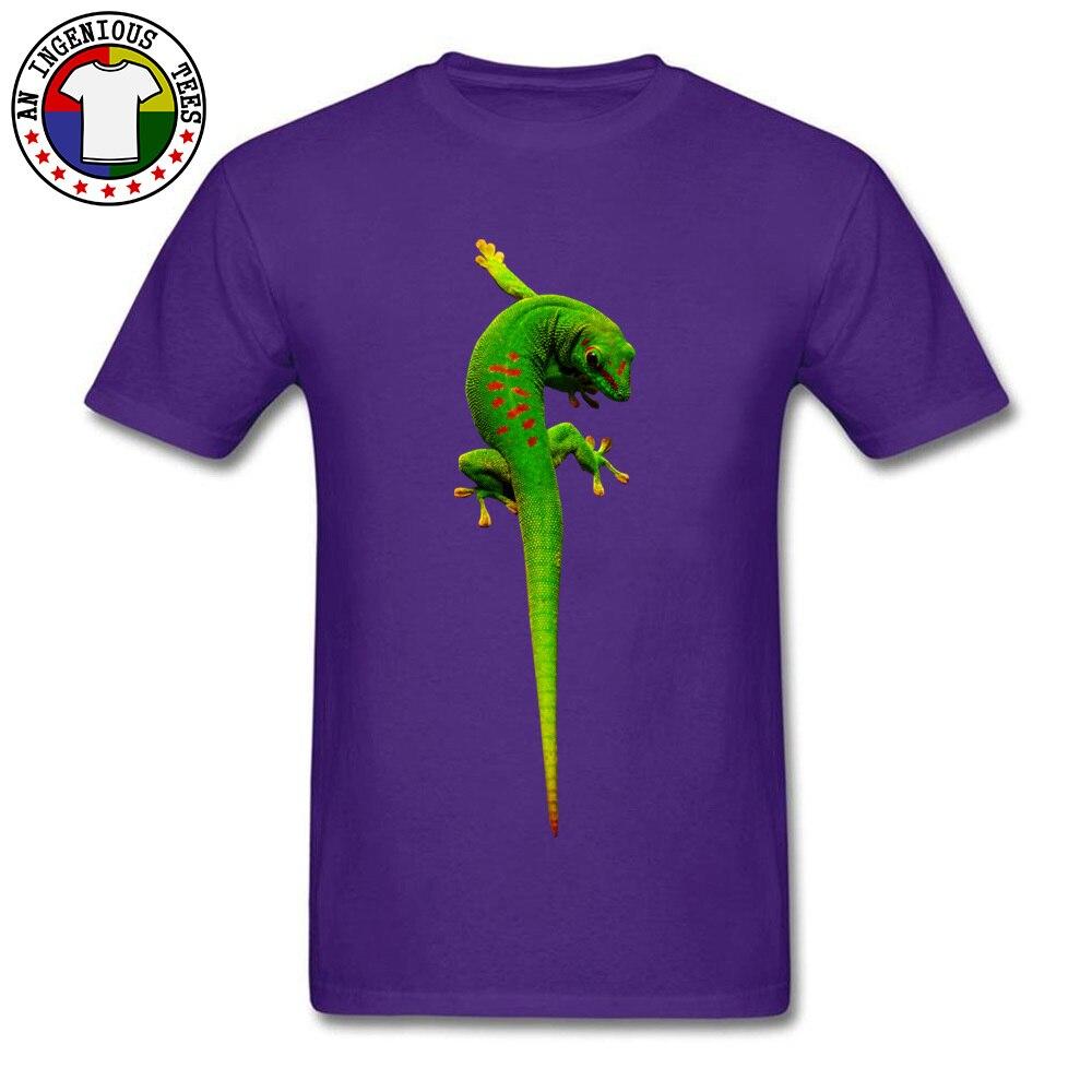 gecko O-Neck T-shirts Summer Fall T Shirt Short Sleeve 2018 Fashion Cotton Fabric Summer Tee Shirt 3D Printed Male gecko purple