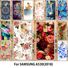 AKABEILA Flowers Case For Samsung Galaxy A5 2018 Cases Silicone TPU Soft Covers Duos with dual-SIM card slots A530F A530F/DS(China)