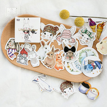 45 pcs/lot Lovely Rabbit mini paper sticker decoration DIY album diary scrapbooking label sticker kawaii stationery