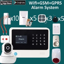 Double ways Wifi&sim card old people care system SOS panic button and live video camera wifi emergency alarm system