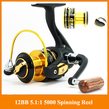 German technology 12bb 3000 4000 series spinning fishing reel big discount Fishing Reels hot sale for feeder fishing(China)