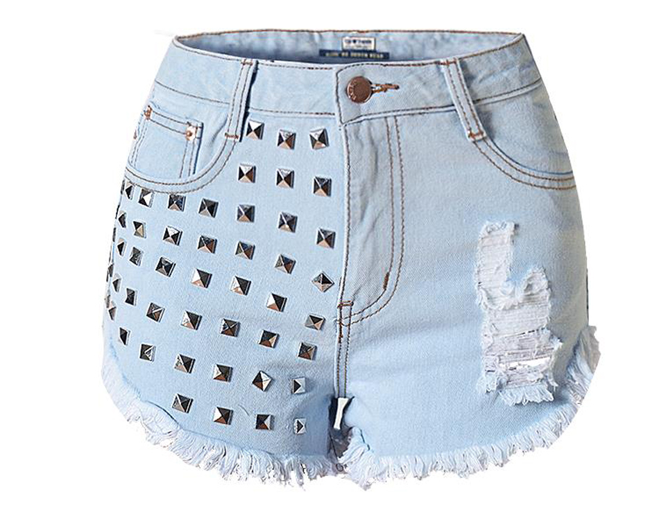 2016 New Fashion Summer Style Women Jeans ripped Holes denim shorts Jeans Slim vintage boyfriend CASUAL jeans with rivets SP2084Одежда и ак�е��уары<br><br><br>Aliexpress
