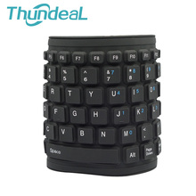 Mini Keyboard Waterproof Washable Silicone Foldable Flexible Keyboard USB Keypad Teclado for Tablet Computer Laptop Black 84 Key
