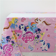 My Little Pony Kids Favors Tablecover Cartoon Theme Birthday Party Decoration Supplies Tablecloth Happy Baby Shower 108*180cm