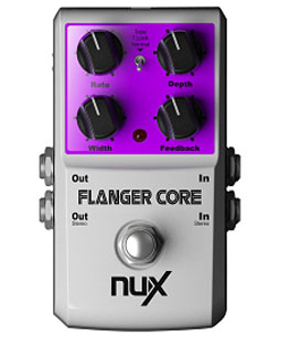NUX Flanger Core Stomp Boxes Core Series Guitar Effect Pedal Normal and Tape Flanging Musical Instruments<br>