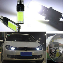 1Pair T10 W5W 194 168 6W SMD LED Bulb COB Canbus Side Lamp Car Tail light White Car Styling