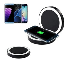 Portable Qi Wireless Power Charger Charging Pad Standard For Samsung Galaxy S8/S8 Plus for Samsung Galaxy S7/S7 Edge(China)