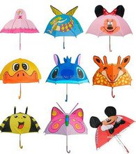 Wholesale 50pcs/lot Creative  cartoon animal umbrella children umbrella Birthday Gifts for kids
