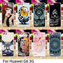 Soft Mobile Smartphone Cases For Huawei Ascend G6 3G P6 Mini U00 U10 4.5 inch Cases Flowers Hard Back Skin Housing Sheath Bags