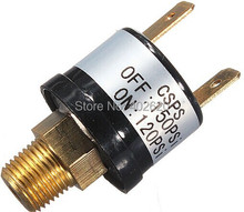 New 12V 3.5A Trumpet Train Horn Air Compressor Pressure Switch Rated 120 to 150 PSI Free shipping Pneumatic Parts