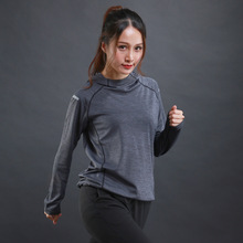 Buy 2017 autumn&winter new women long-sleeved T-shirt sweater thin breathable fitness training sports long-sleeved hooded sweater LX for $15.29 in AliExpress store