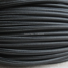 10 meters Black Color 2 core 0.75mm2 Textile Electrical Wire Color Braided Wire Fabric Covered Electrical Power Cord Wire Cable