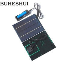 BUHESHUI 3.5W 5V Solar Panel With DC35MM Base For 18650 Battery Solar Cell For 18650 Rechargeable Battery Charging Directly NEW(China)