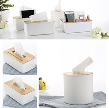 Paper Primary color wood oak Car Home Rectangle Shaped Tissue Box Container Towel Napkin Tissue Holder