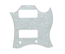 Standard SG SPECIAL Guitar Full Face Pickguard w/ P90 Pickup Hole White Pearl