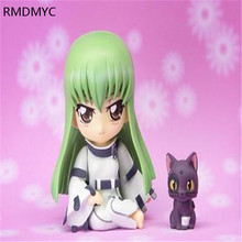 RMDMYC Hot 10cm Q Version japanese anime Code Geass C.C. Action Figure Toys lovely  PVC Crafts Collection model for anime gifts