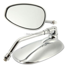 MOTORCYCLE CHROME 10mm REARVIEW MIRRORS SIDE MIRROR FOR SUZUKI MOTORCYCLE BOULEVARD M109R CRUISER FREE SHIPPING