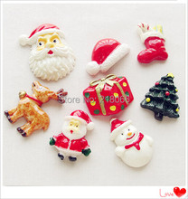 20 Pcs Mix Christmas Resin Flat back Children's Decoration Scrapbook Gifts Lots CN0001(China)
