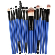 15 pcs/sets Professional Beauty Eye Shadow Foundation Eyebrow Lip Brush Makeup Brushes Set Tool Hot
