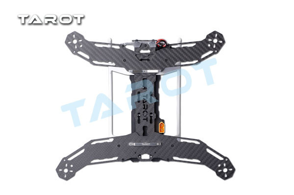 FREE SHIPPING TAROT Mini 300 Carbon Metal Quad copter main frame Kit Built-in PCB board TL300A<br>