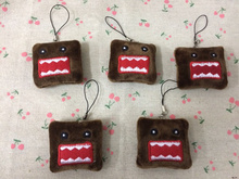 1Piec Super Hot Mini 5CM Plush Stuffed TOY , Domo String Rope Pendant DOLL BAG Key Chain TOY(China)