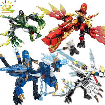 HUIQIBAO 115pcs ninja dragon knight building blocks