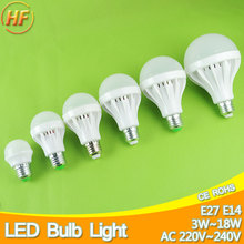 Lampada LED E27 E14 LED Lamp 220v Ball Bulb LED Light bulb 3W 5W 7W 9W 12W 15W 18W Lampara Bombilla Ampoule spotlight SMD 5730