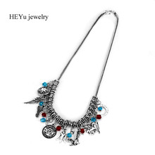 Percy Jackson Necklace Angle Wings Magic Wand Fly Horse Necklace & Pendant Percy Jackson choker necklace For Women Jewelry