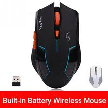 USB Laser portable Wireless Optical Gaming Mouse Mice Professional Gamer Rechargeable Mouse For PC Laptop Desktop New