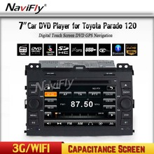 MTK MT3360 Wince 6.0 FM BT Car DVD Multimedia Player Radio Stereo PC Support 3G WIFI For Toyota Land Cruiser Prado 120 2002-2009