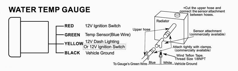 2019 2 52mm Led Smoke Face Water Temp Gauge Temperature
