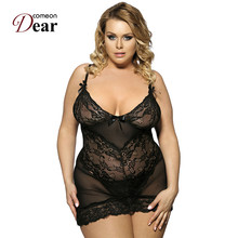 Comeondear Wholesale And Retail Super Deal Plus Size Lingerie RK70218 Lace Lenceria Sexy Temptation Brand New Erotic Lingerie(China)