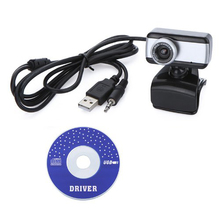 USB 2.0 50.0M HD Webcam Camera Web Cam with MIC for Computer Desktop PC Laptop (Silver)