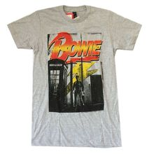 David Bowie Telephone Booth Ziggy Stardust Heather Grey T Shirt New Official(China)