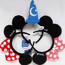 Minnie Ears Bow Headband Winnie Marie Stitch hair band Birthday Party Favors Halloween Christmas Party Headwear Hair Accessories