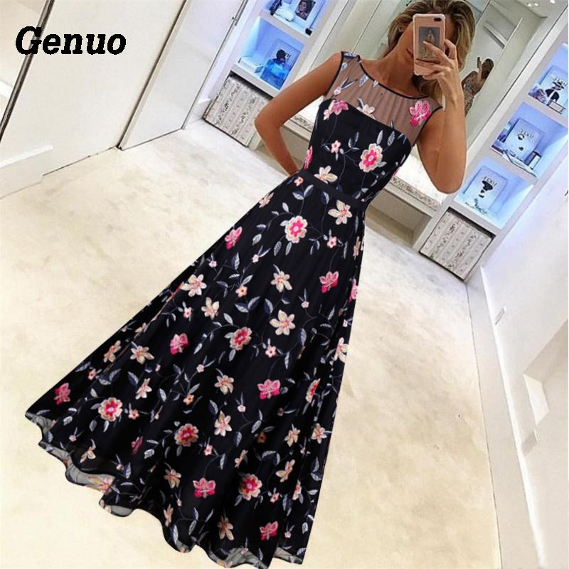 Flower Embroidery Maxi Dress 4