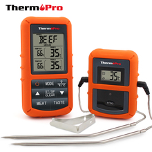 Original ThermoPro TP-20 Remote Wireless Digital BBQ, Oven Thermometer Home Use Stainless Steel Probe Large Screen with Timer(China)