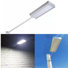 Outdoor Waterproof Motion Sensor Solar Powered LED Pole Wall Street Path Light For Garden 4 Working Modes(China)