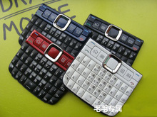 Black/White/Blue/Red 100% New Housing Cover Case Keyboards Keypads For Nokia E63 Free Shipping(China)