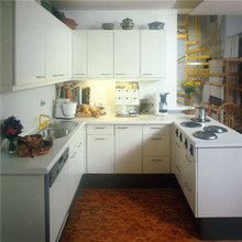 modern kitchen with white lacquer painting