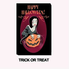 Unframed Trick Or Treat Happy Halloween HD Canvas Print Home Decoration Living Room Bedroom Wall Pictures Art painting As Gif