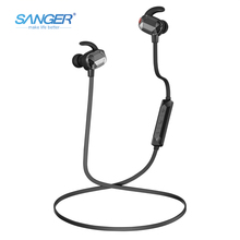 SANGER Wireless Earphone Bluetooth 4.0 Headset Amber heart Headphone Earpiece Sport Running Stereo Earbuds With Microphone(China)