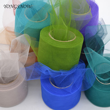 22m/lot 5cm Crystal shining tulle roll organza sheer gauze wedding decoration baby shower birthday party home garden supplies(China)