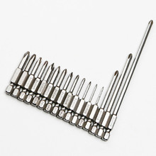 Magnetic Philips Screwdriver Set 1/4 Inch 6.35mm Shank S2 Alloy Steel 100mm Long Magnetic Hex Screwdriver Bit Set