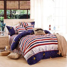 New Arrival Urban Night Sky 4 Piece Bedding Set Bed Sheet Bed Cover Pillow Cover Soft Coverlet Set,Comfortable Cover Set