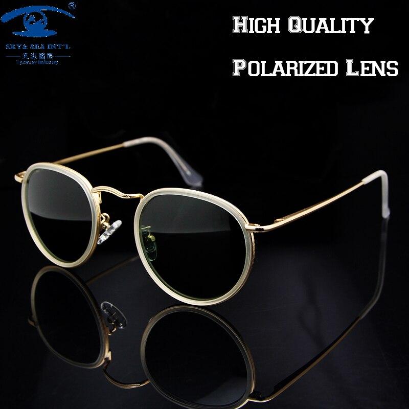 Top Quality Vintage Sunglasses Women transparente Polarized Sun Glasses  Retro Round Sunglasses lunette oculos de sol feminino<br><br>Aliexpress