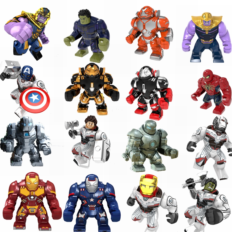 Marvel Avengers Series Blocks Thor God Iron Man Spider-Man Hulk Man Wei Avengers Children