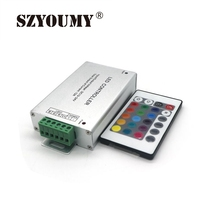 SZYOUMY 10pcs/lot RGB LED Dimmer RF Remote Controller 24 key Remote Control DC 12V 24V 12A 3 Channels For 5050 / 3528 Led Strip(China)