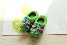 "2"" Netherlands Holland Wooden Shoes Tourist Travel Souvenir Fridge Magnet Craft GREEN(China)"